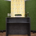 * NEW * – Portable Bar - Interchangeable Panels - Faux Grass